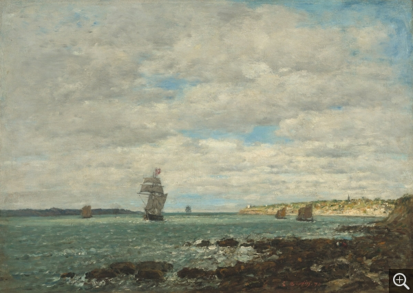 Eugène BOUDIN (1824-1898), Côte de Bretagne, 1870, huile sur toile, 47,3 x 66 cm. Collection of Mr. and Mrs. Paul Mellon. © Washington, National Gallery of Art