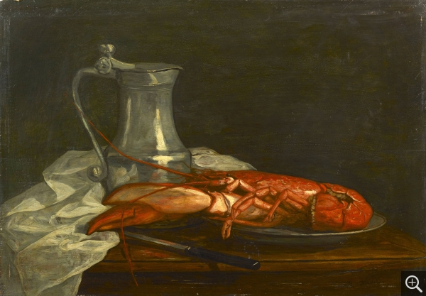 Eugène BOUDIN (1824-1898), Nature morte au homard, ca. 1853-1856, oil on panel, 40.5 x 59 cm. . © Durand-Ruel & Cie