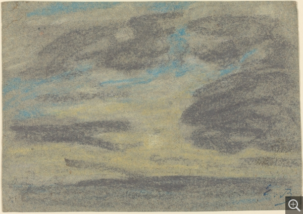 Eugène BOUDIN (1824-1898), Nuages au-dessus de la mer, ca. 1860-1865, pastel on wove paper, 11.5 x 16 cm. . © Washington, National Gallery of Art