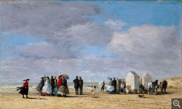Eugène BOUDIN (1824-1898), La Plage à Trouville, 1865, huile sur toile, 38 x 62.8 cm. Gift of the Estate of Laurence Hutton. © Princeton, University Art Museum