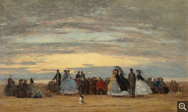 Eugène BOUDIN (1824-1898), La plage à Villerville, ca. 1864, oil on canvas, 45.7 x 76.3 cm. . © Washington, National Gallery of Art