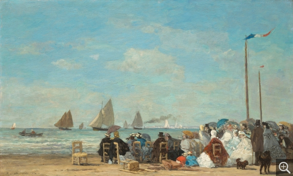 Eugène BOUDIN (1824-1898), Scène de plage à Trouville, ca. 1863, oil on wood, 34.8 x 57.5 cm. . © Washington, National Gallery of Art