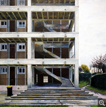 Yves BÉLORGEY (1960), Immeuble Jenner, 2016, oil on canvas, 243 x 243 cm. © Yves Bélorgey © Adagp, Paris 2017