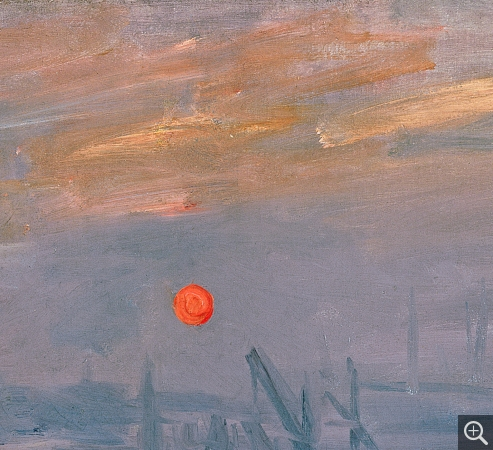 Claude MONET (1840-1926), Impression, soleil levant (détail), 1872, oil on canvas, 50 × 65 cm. . © Bridgeman Images