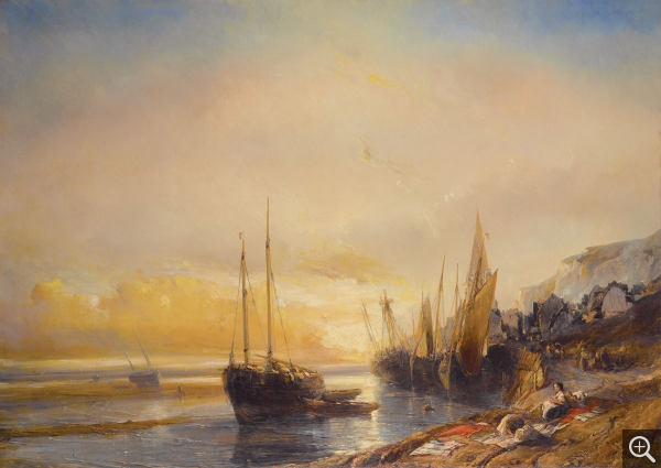Eugène ISABEY (1803-1886), The Ecores, 1839, oil on canvas, 149 x 210 cm. Trouville-sur-Mer, musée villa Montebello. © All rights reserved
