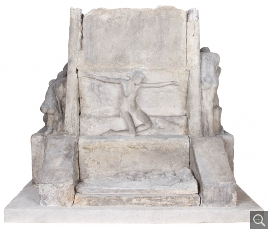 Albert BARTHOLOMÉ (1848-1928), First model for the Monument to the Dead, 1892-1893, plaster, 85.5 x 98.5 x 84 cm. © MuMa Le Havre / Charles Maslard