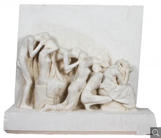 Albert BARTHOLOMÉ (1848-1928), Second model for the Monument to the Dead, ca. 1895, plaster, 95 x 110 x 48 cm. © MuMa Le Havre / Charles Maslard