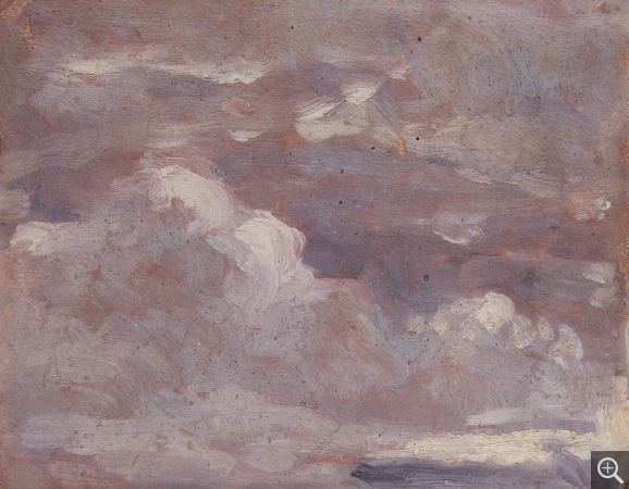 Eugène BOUDIN (1824-1898), Brown and Grey Sky, ca. 1848-1853, oil on paper, 9.7 x 12.2 cm. © MuMa Le Havre / Florian Kleinefenn