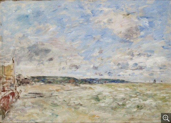 Eugène BOUDIN (1824-1898), Open Sky with Clouds over Trouville, ca. 1896, oil on canvas, 59.5 cm x 81.5 cm. © MuMa Le Havre / Florian Kleinefenn