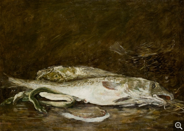 Eugène BOUDIN (1824-1898), Nature morte aux poissons, 1873, oil on canvas, 79 x 110 cm. © MuMa Le Havre / Florian Kleinefenn