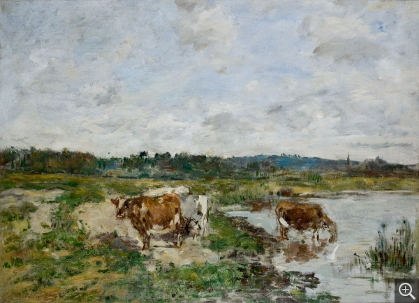 Eugène BOUDIN (1824-1898), Studies of Cows, ca. 1881-1888, oil on canvas, 43.3 x 58.4 cm. © MuMa Le Havre / Florian Kleinefenn
