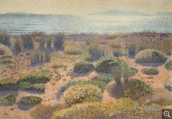 Henri Edmond CROSS (1856-1910), Beach at Vignasse, The Golden Isles, 1891-1892, oil on canvas, 65.5 x 92.2 cm. © MuMa Le Havre / David Fogel