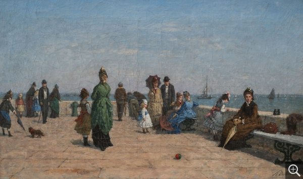 Louis Alexandre DUBOURG (1821-1891), The Jetty in Honfleur, oil on canvas, 35.5 x 65.5 cm. © MuMa Le Havre / David Fogel