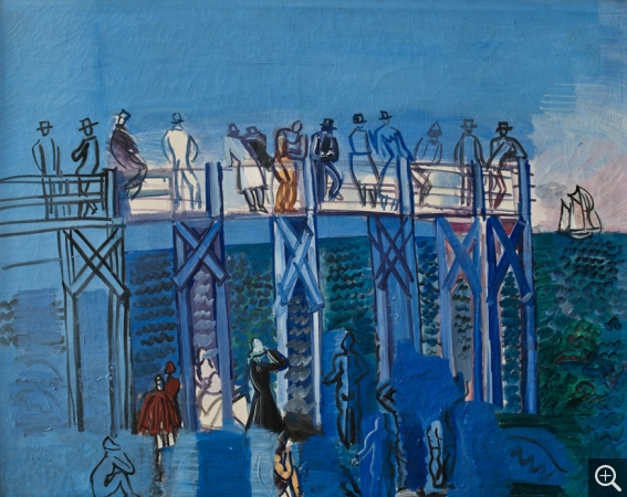 Raoul DUFY (1877-1953), The Pier and the Beach at Le Havre, vers 1926, oil on canvas, 65.5 x 77.5 cm. . © MuMa Le Havre / David Fogel © ADAGP, Paris, 2013