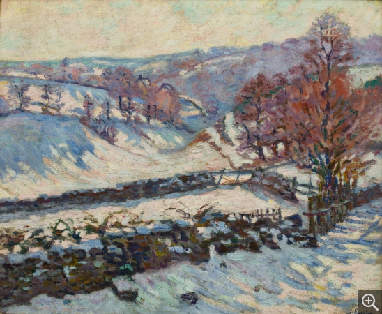 Armand GUILLAUMIN (1841-1927), Snowy Landscape at Crozant, vers 1895, oil on canvas, 60 x 73 cm. © MuMa Le Havre / David Fogel