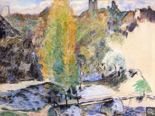 Armand GUILLAUMIN (1841-1927), Bridge Over the Sédelle, Crozant, 1896, pastel on paper, 47 x 60 cm. © MuMa Le Havre / Florian Kleinefenn