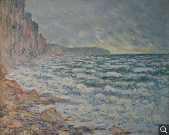 Claude MONET (1840-1926), Fécamp, Seashore, 1881, oil on canvas, 63.5 x 80 cm. © MuMa Le Havre / David Fogel