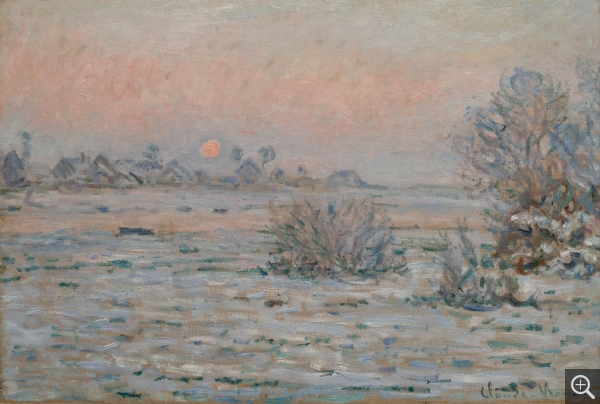 Claude MONET (1840-1926), Winter Sun,Lavacourt, 1879-1880, oil on canvas, 55 x 81 cm. © MuMa Le Havre / David Fogel
