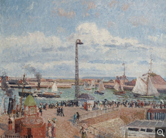 Camille PISSARRO (1831-1903), The Outer Harbour of Le Havre, Morning, Sun, Tide, 1903, oil on canvas, 54.5 x 65.3 cm. © MuMa Le Havre / David Fogel