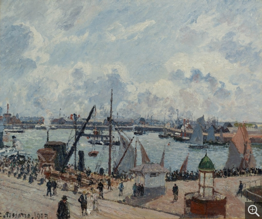 Camille PISSARRO (1831-1903), The Pilots' Jetty at Le Havre, 1903, oil on canvas, 54.5 x 65 cm. © MuMa Le Havre / David Fogel