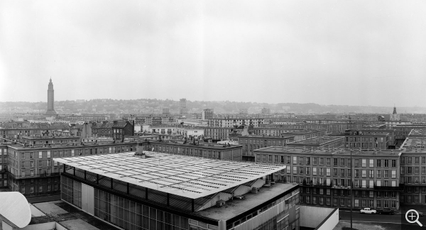 Bird's-eye view of the Musée-maison de la culture, June 1965. Photothèque de la DICOM © MEDDE / MLETR