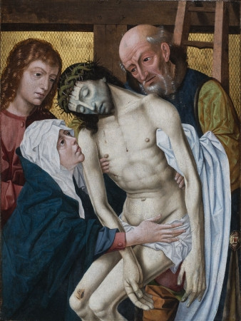 Anonyme, Descent from the Cross, ca. 1450-1500, oil on wood, 71 x 59 cm. Don Augustin-Normand, 2007. © MuMa Le Havre / Charles Maslard