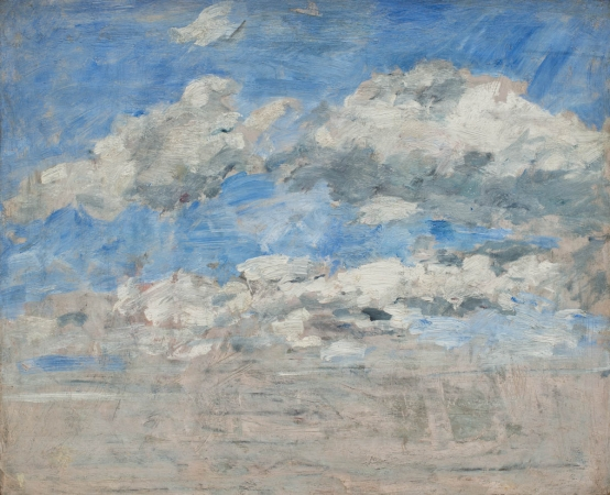 Eugène BOUDIN (1824-1898), Study of Clouds, Blue Sky, ca. 1888-1895, oil on wood, 37 x 46 cm. © MuMa Le Havre / David Fogel