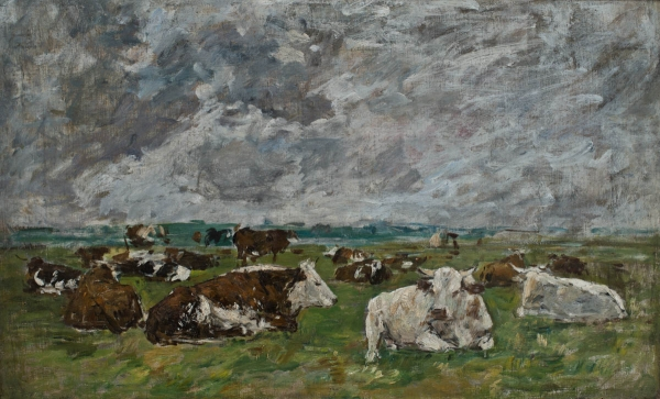 Eugène BOUDIN (1824-1898), Studies of Cows, ca. 1881-1888, oil on canvas, 43.1 x 69 cm. © MuMa Le Havre / David Fogel