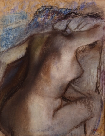 Edgar DEGAS (1834-1917), After the Bath, Woman Drying Herself, ca. 1884-1886 / 1890 / 1900, pastel on wove paper, 40.5 x 32 cm. © MuMa Le Havre / Florian Kleinefenn