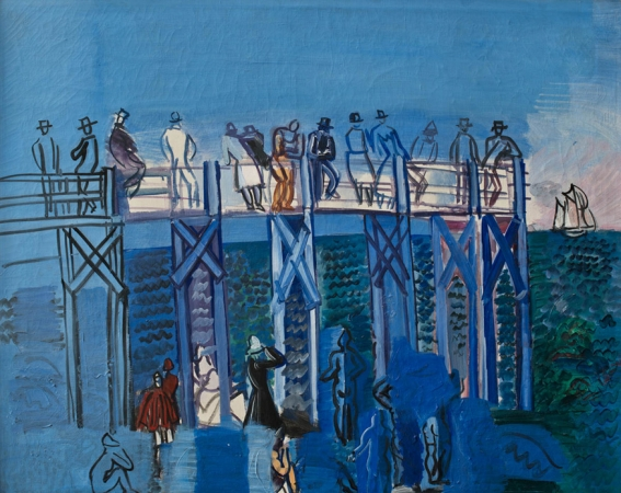 Raoul DUFY (1877-1953), The Pier and the Beach at Le Havre, ca. 1926, oil on canvas, 65.5 x 77.5 cm. © MuMa Le Havre / David Fogel — © ADAGP, Paris, 2013