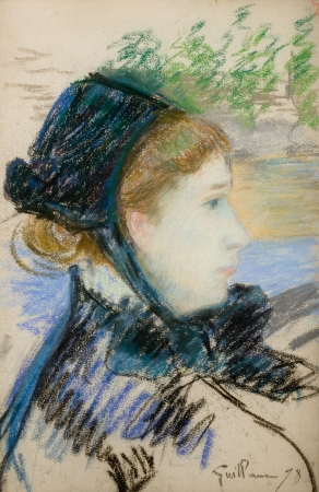 Armand GUILLAUMIN (1841-1927), Woman's Head in Profile, 1878, pastel on paper, 47 x 32 cm . © MuMa Le Havre / Florian Kleinefenn