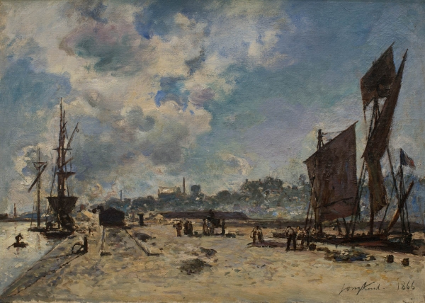 Johan Barthold JONGKIND (1819-1891), Quay at Honfleur, 1866, oil on canvas, 32.5 x 46 cm. © MuMa Le Havre / David Fogel