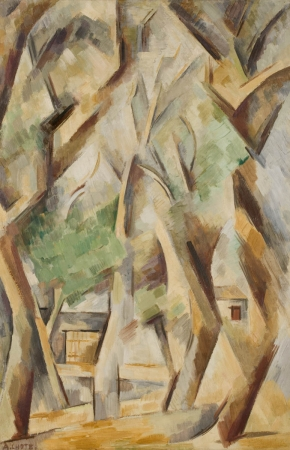 André LHOTE (1885-1962), Trees at Avignon, ca. 1909-1910, oil on canvas, 81.5 x 54.3 cm. © MuMa Le Havre / Florian Kleinefenn — © ADAGP, Paris, 2013
