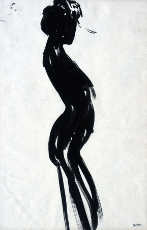 Albert MARQUET (1875-1947), Sinuous Woman (front), ca. 1904, Indian ink on wove paper, 28.5 x 18.8 cm. © MuMa Le Havre / Charles Maslard