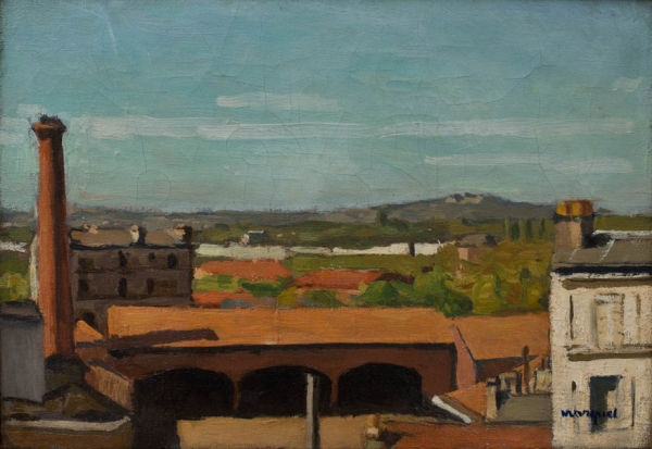 Albert MARQUET (1875-1947), The Red Roofs, 1902-1904, oil on canvas, 23.8 x 34.7 cm. © MuMa Le Havre / David Fogel