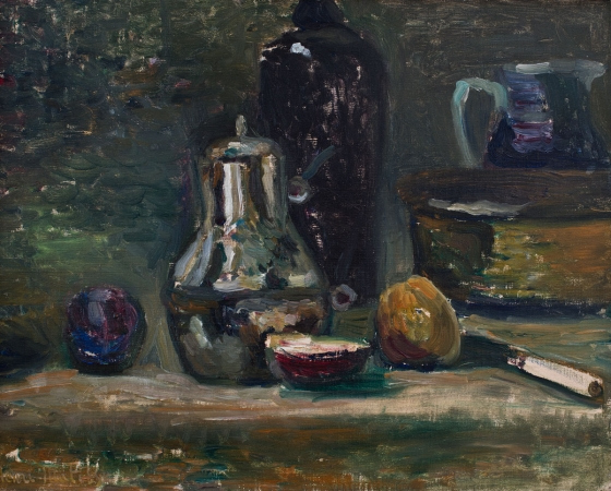 Henri MATISSE (1869-1954), Still Life with Pitcher, ca. 1896 , oil on canvas, 33 x 41 cm. Droits Photo : © MuMa Le Havre / David Fogel — Droits Auteur : © Succession H. Matisse