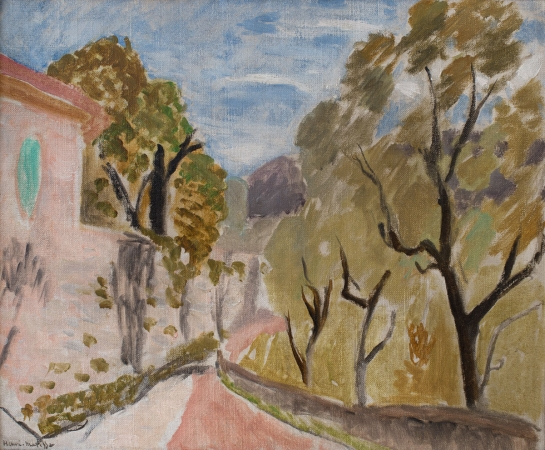 Henri MATISSE (1869-1954), Landscape or Street in the South, 1919, oil on canvas cardboard, 38 x 46 cm. Droits Photo : © MuMa Le Havre / David Fogel — Droits Auteur : © Succession H. Matisse