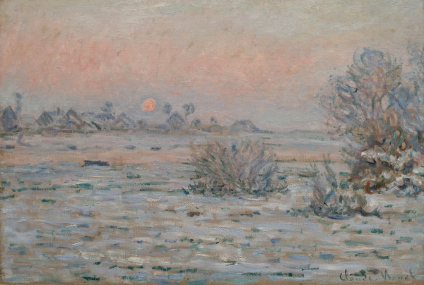 Claude MONET (1840-1926), Winter Sun at Lavacourt, 1879-1880, oil on canvas, 55 x 81 cm. © MuMa Le Havre / David Fogel