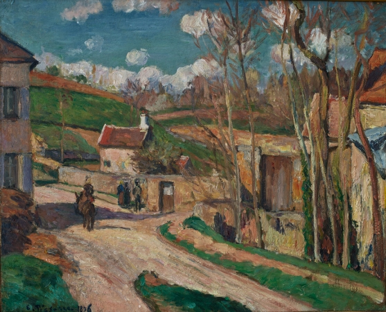 Camille PISSARRO (1831-1903), Crossroads at L'Hermitage, Pointoise, 1876, oil on canvas, 38.5 x 46.5 cm. © MuMa Le Havre / David Fogel