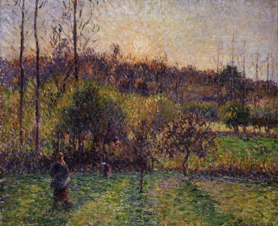 pissarro sunrise at ragny muma le havre site officiel du mus e d 39 art moderne andr malraux. Black Bedroom Furniture Sets. Home Design Ideas