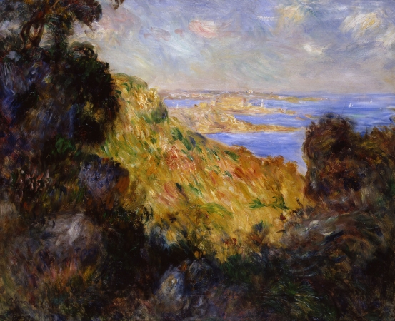 Pierre-Auguste RENOIR (1841-1919), Bay of Salerno or Southern Landscape, 1881, oil on canvas, 46 x 55.5 cm. © MuMa Le Havre / Florian Kleinefenn