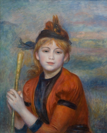 Pierre-Auguste RENOIR (1841-1919), The Excursionist, ca. 1888, oil on canvas, 61.5 x 50 cm. © MuMa Le Havre / David Fogel