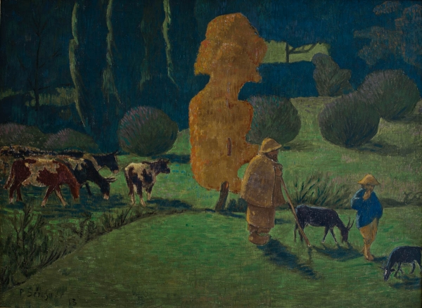 Paul SÉRUSIER (1864-1927), The Corydon Shepherd, 1913, oil on canvas, 73 x 99 cm. © MuMa Le Havre / David Fogel