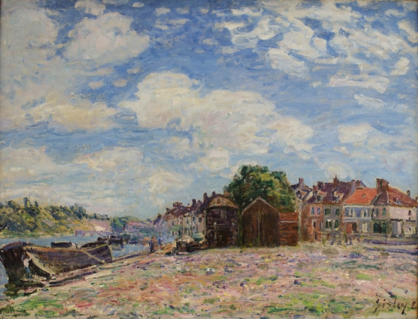 Alfred SISLEY (1839-1899), The Loing at Saint-Mammès, 1885, oil on canvas, 55 x 73.2 cm. © MuMa Le Havre / David Fogel