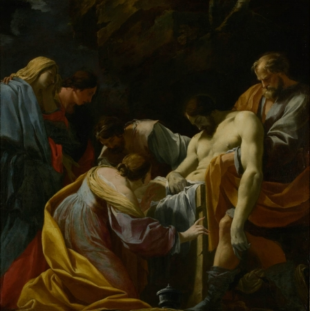 Simon VOUET (1590-1649), The Entombment, ca. 1636-1638, oil on canvas, 149.8 x 151.4 cm. © MuMa Le Havre / Florian Kleinefenn