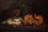 Eugène BOUDIN (1824-1898), Still Life with Squash, ca. 1854-1860, oil on canvas, 56.5 x 83 cm. © MuMa Le Havre / Florian Kleinefenn