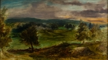 Eugène DELACROIX (1798-1863), Landscape at Champrosay, ca. 1849, oil on canvas, 41 x 72.5 cm. © MuMa Le Havre / David Fogel