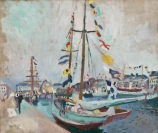 Raoul DUFY (1877-1953), Yacht with Flags at Le Havre, ca. 1905, oil on canvas, 69 x 81 cm. © MuMa Le Havre / David Fogel — © ADAGP, Paris, 2013