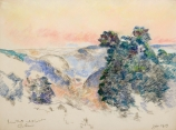Armand GUILLAUMIN (1841-1927), Fog at Sunrise, 1919, pastel on paper, 47 x 62 cm. © MuMa Le Havre / Florian Kleinefenn
