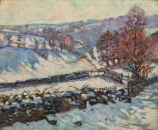 Armand GUILLAUMIN (1841-1927), Snowy Landscape at Crozant, ca. 1895 ?, oil on canvas, 60 x 73 cm. © MuMa Le Havre / David Fogel